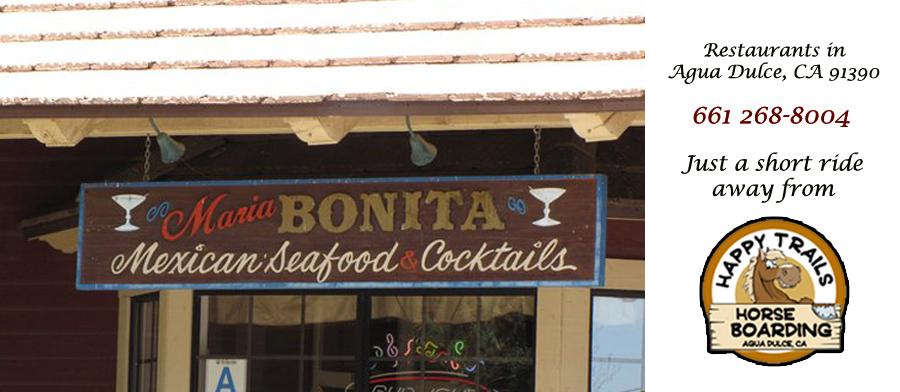 Mexican Food In Agua Dulce Ca Maria Bonita